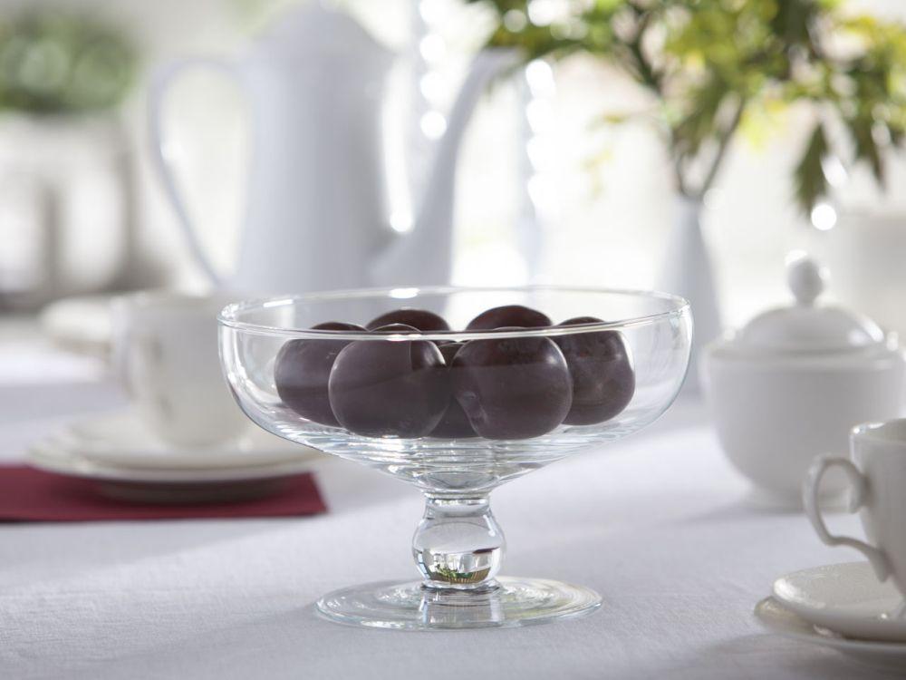 Pucharek deserowy / Miska na nóżce szklana Edwanex 20 cm