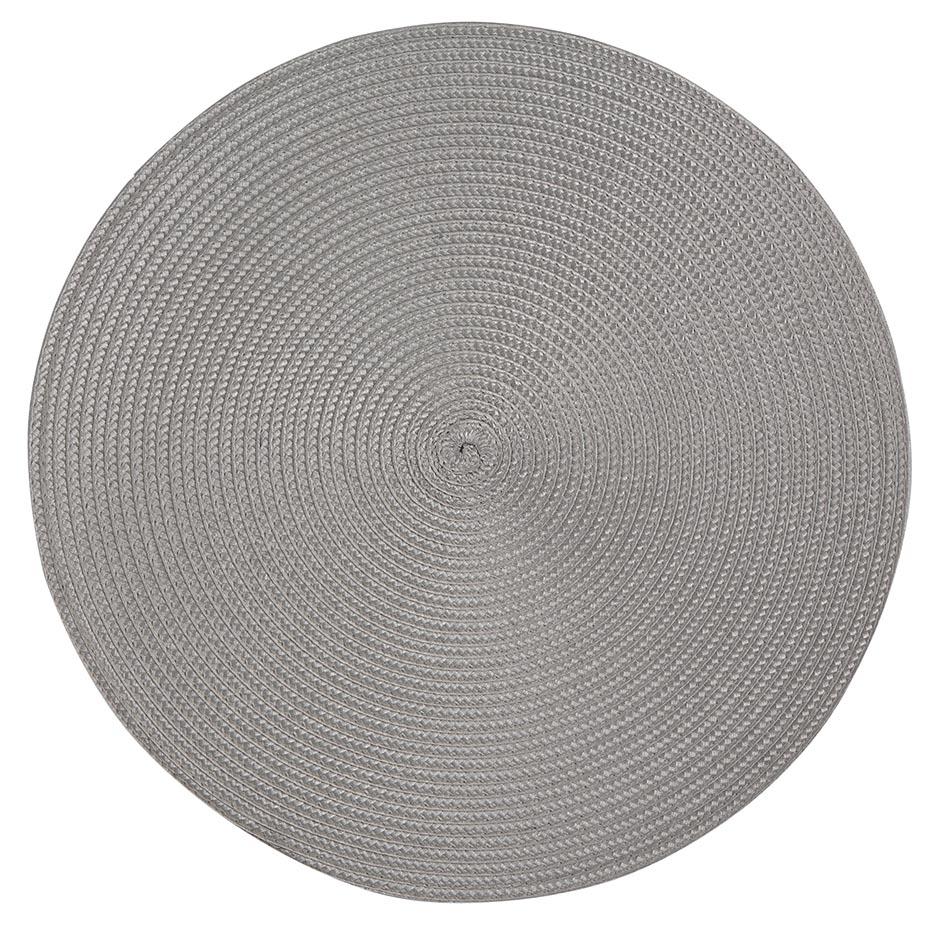 Podkładka / Mata na stół słomkowa Altom Design Szara 38 cm