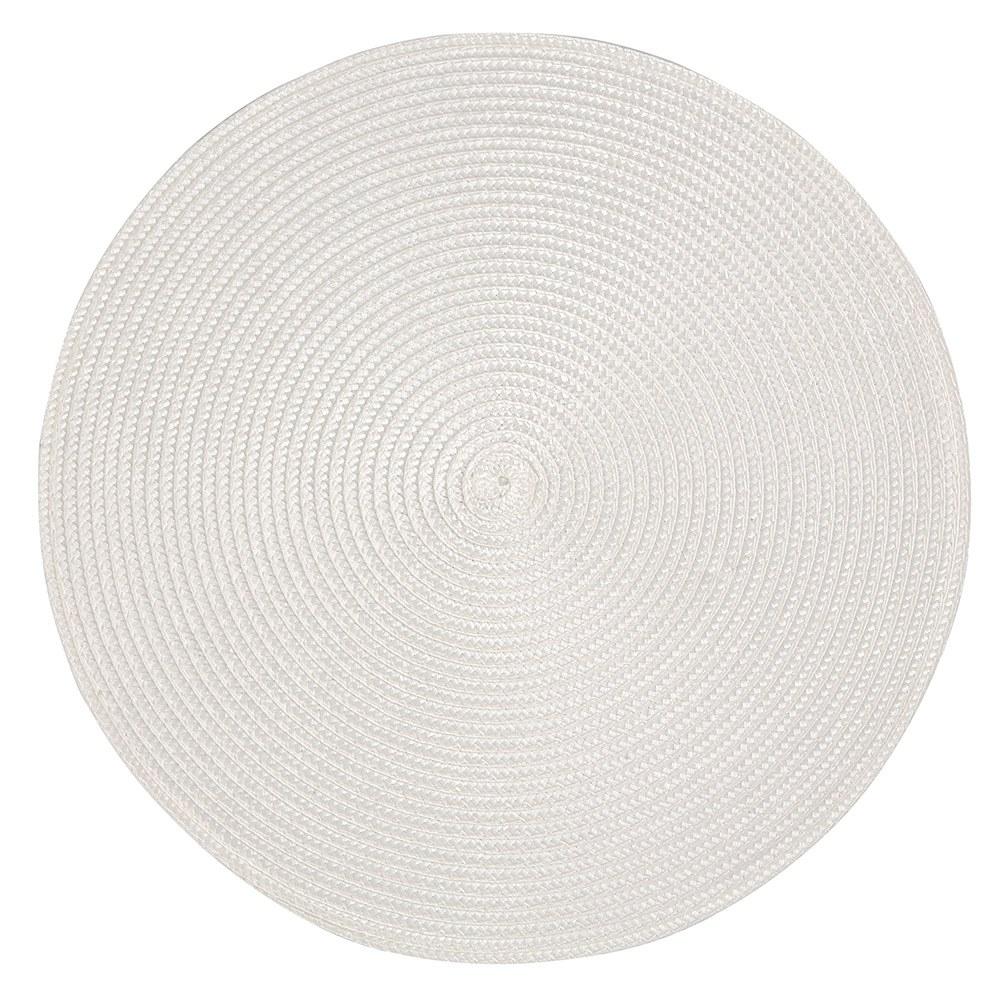 Podkładka / Mata na stół słomkowa Altom Design Białą 38 cm