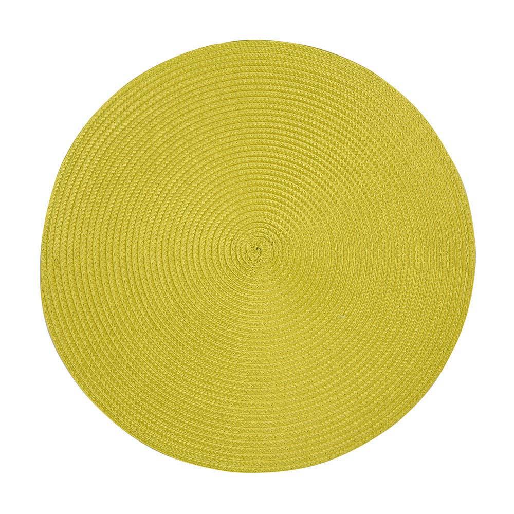 Podkładka / Mata na stół słomkowa Altom Design Żółta 38 cm