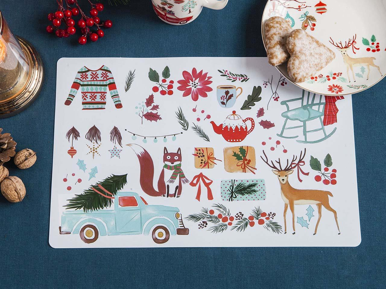 Podkładka / Mata na stół świąteczna Altom Design Magia Północy 28x43 cm (2 wzory)