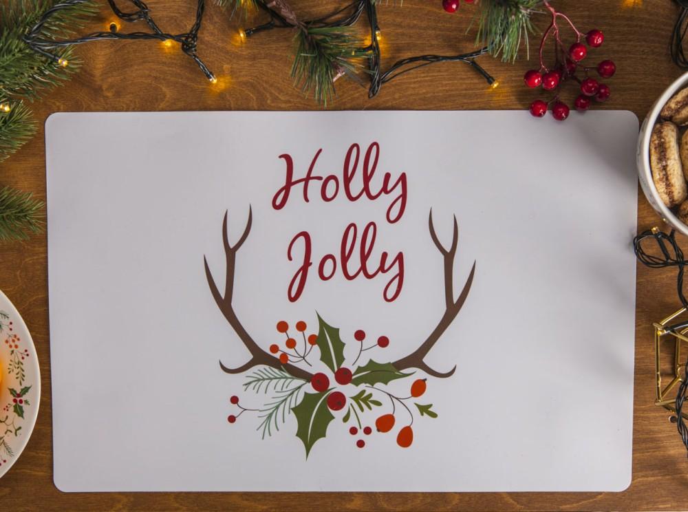 Podkłądka na stół / mata stołowa świąteczna Boże Narodzenie Altom Design Joy 28x43 cm