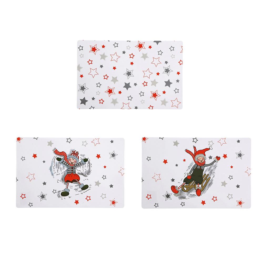 Podkładka / Mata na stół świąteczna Boże Narodzenie Altom Design Zimowe Skrzaty 28x43 cm (3 wzory)