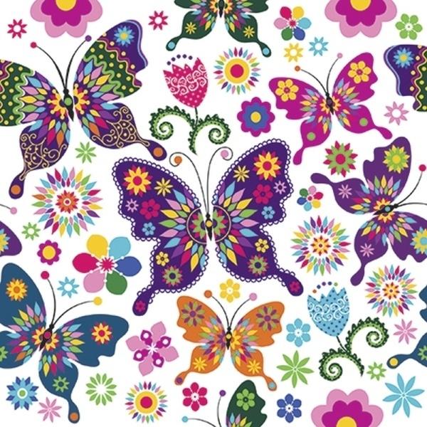Serwetki papierowe, dekoracja Motyle