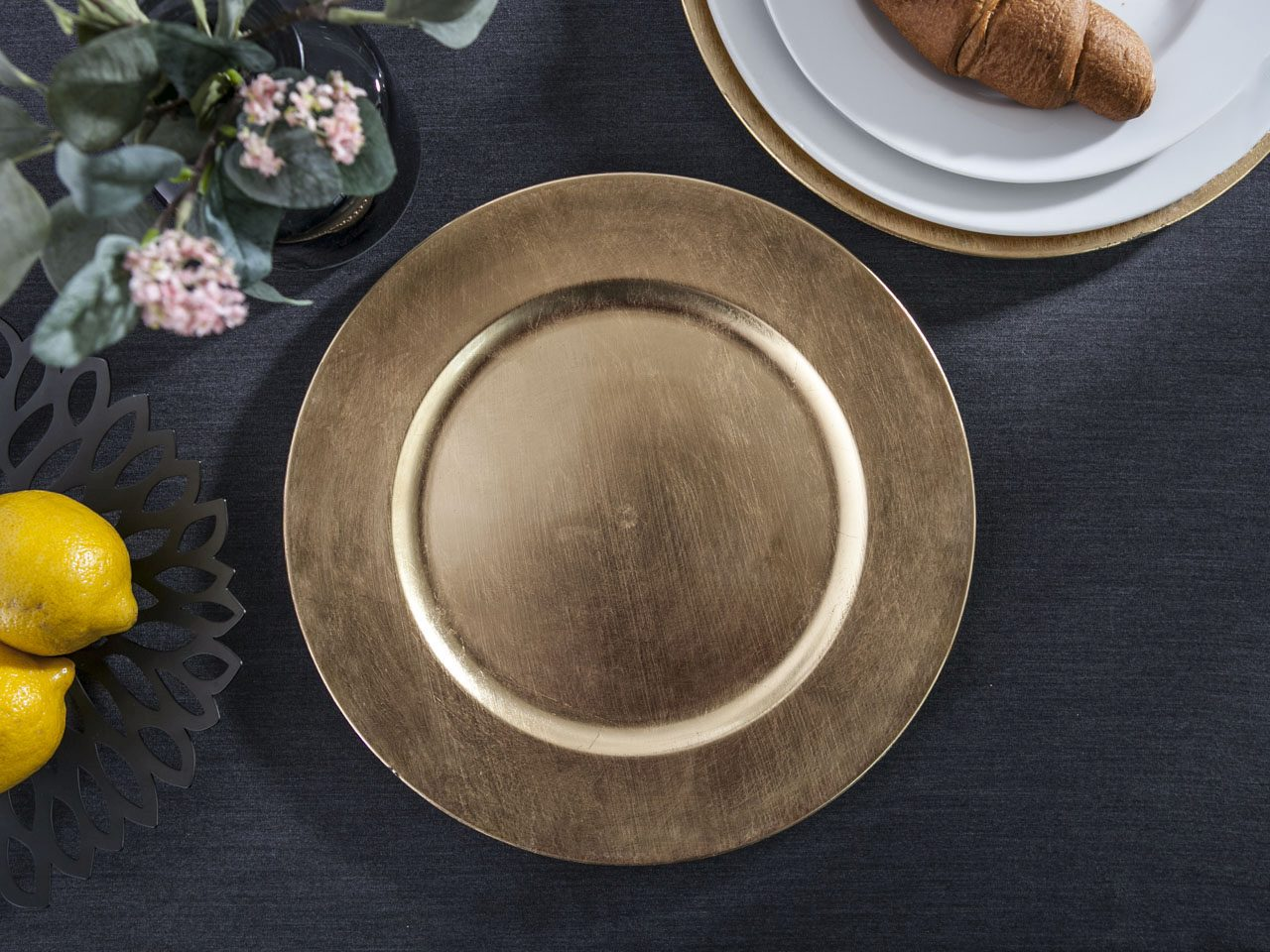 Podkładka pod talerz / na stół Altom Design Złota 33 cm