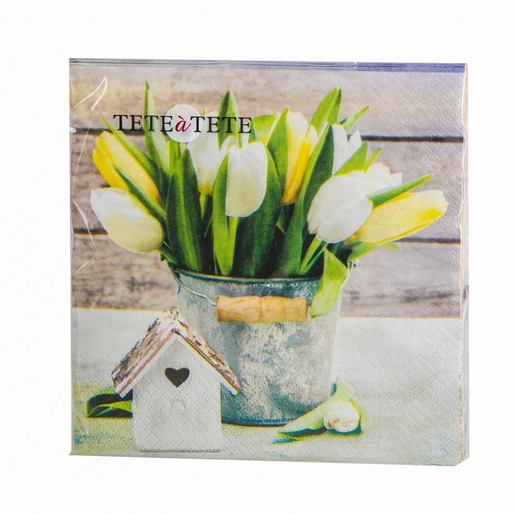 Serwetki papierowe AKU dek. tulipany 33x33 cm (20 sztuk)