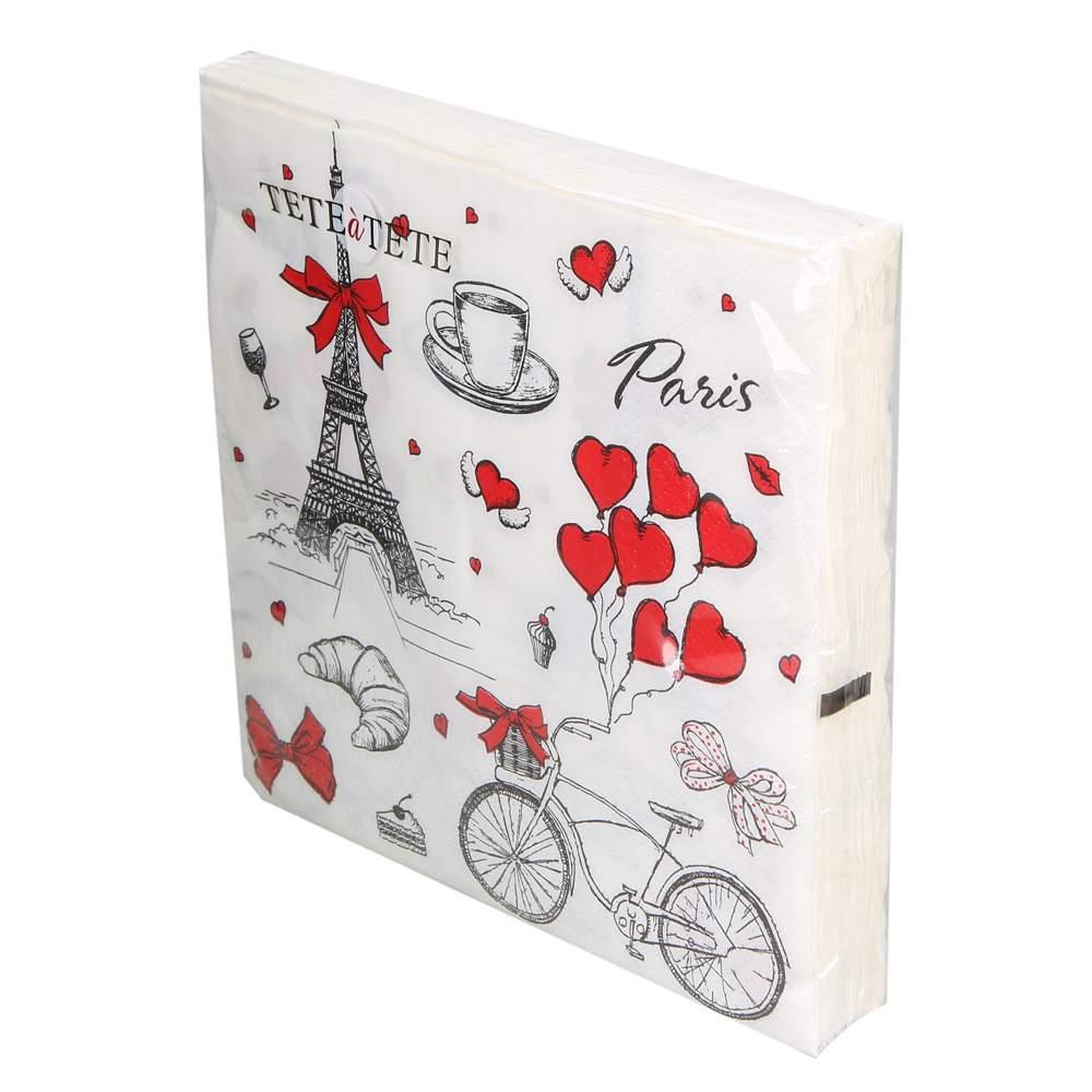Serwetki papierowe AKU dek. Paris 33x33 cm (20 sztuk)
