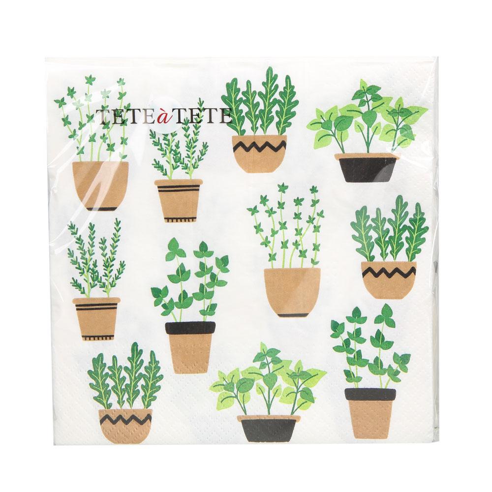Serwetki papierowe AKU dek. rośliny 33x33 cm (20 sztuk)