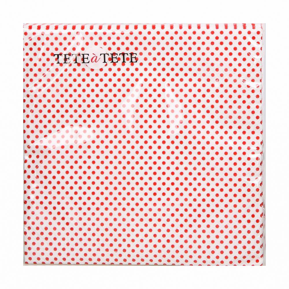 Serwetki papierowe AKU dek. czerwone kropki 33x33 cm (20 sztuk)