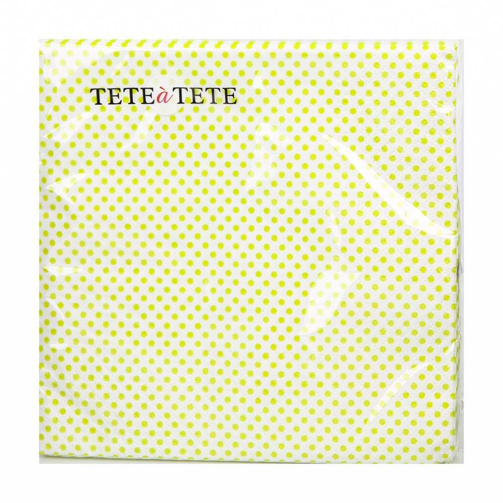 Serwetki papierowe AKU dek. zielone kropki 33x33 cm (20 sztuk)