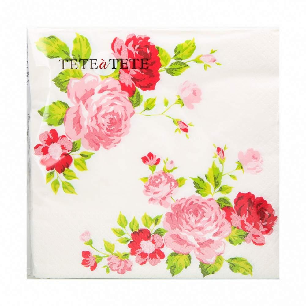 Serwetki papierowe AKU dek. róże 33x33 cm (20 sztuk)