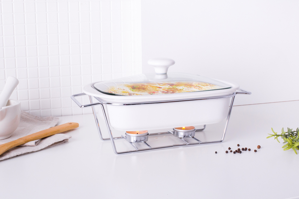 mesa casseroel 1,4l with glass lid and warmer