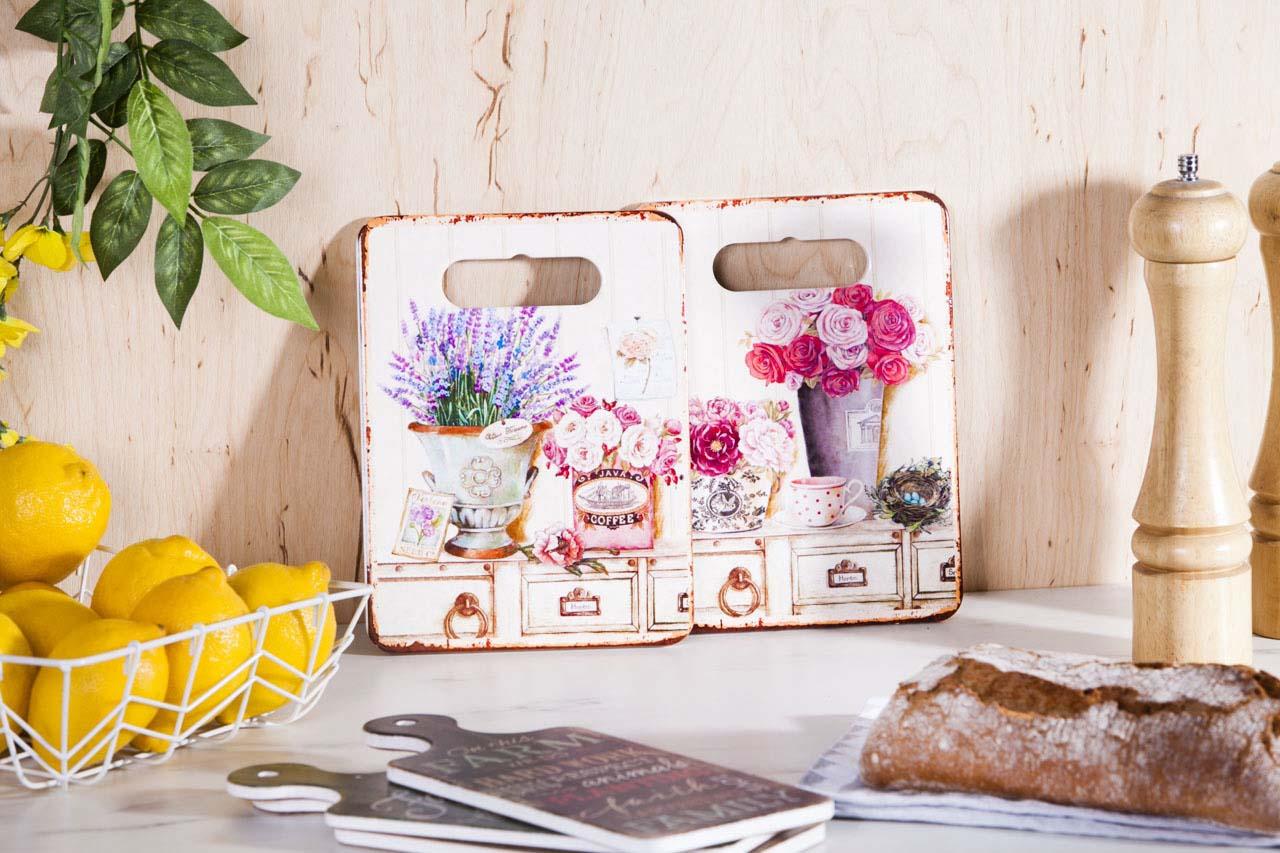 Deska do krojenia / serwowania / podkładka pod garnek ceramiczna Altom Design Vintage 18x24 cm (2 wzory)