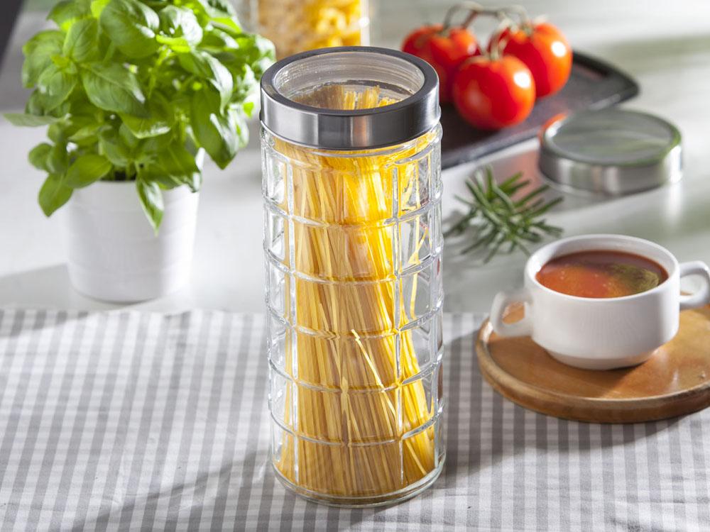 Słoik / pojemnik szklany w kratkę do przechowywania żywności Altom Design 2250 ml