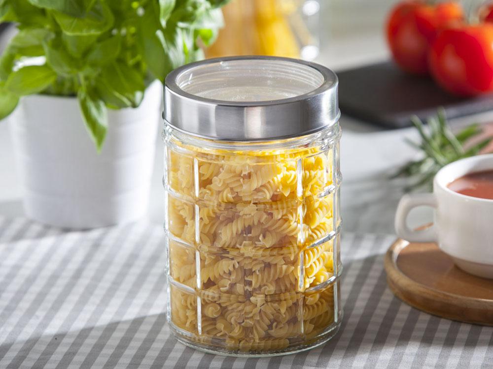 Słoik / pojemnik szklany w kratkę do przechowywania żywności Altom Design 1300 ml