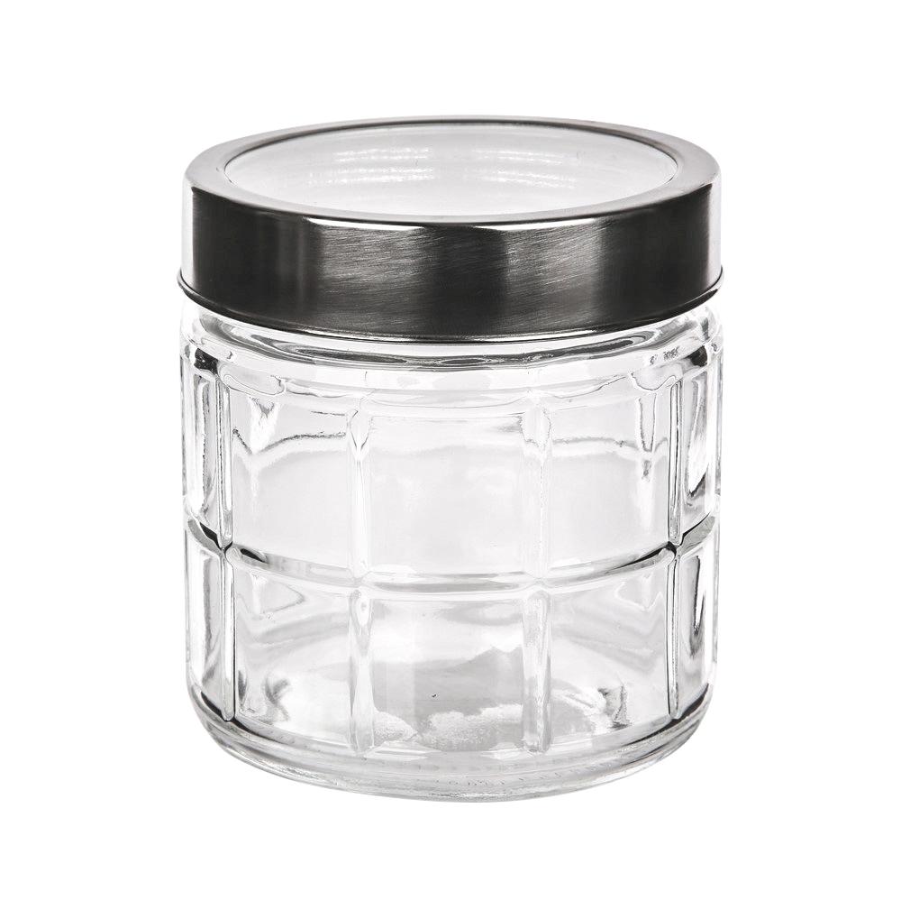 Słoik / pojemnik szklany w kratkę do przechowywania żywności Altom Design 900 ml