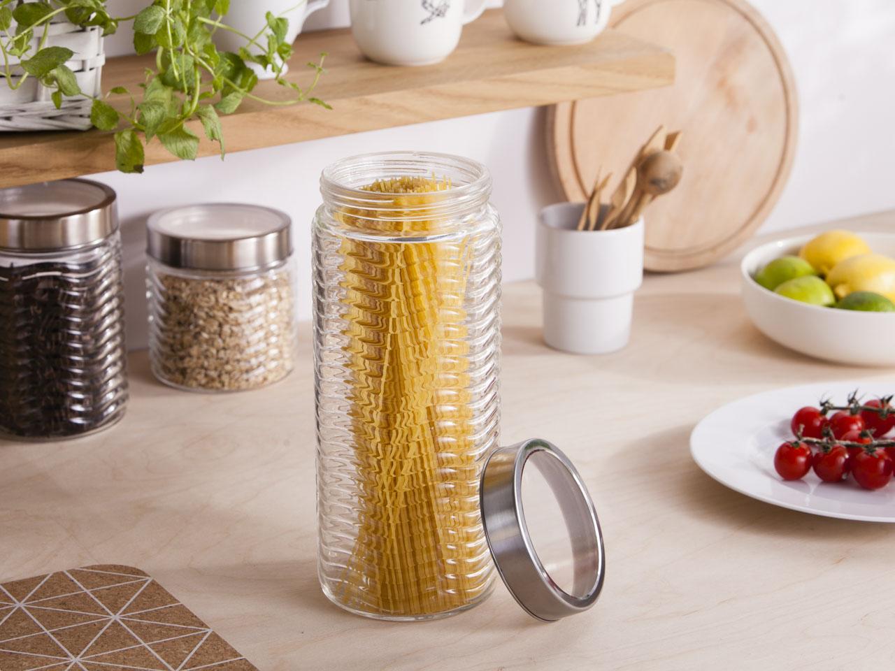 Słoik / pojemnik szklany fala do przechowywania żywności Altom Design 2250 ml