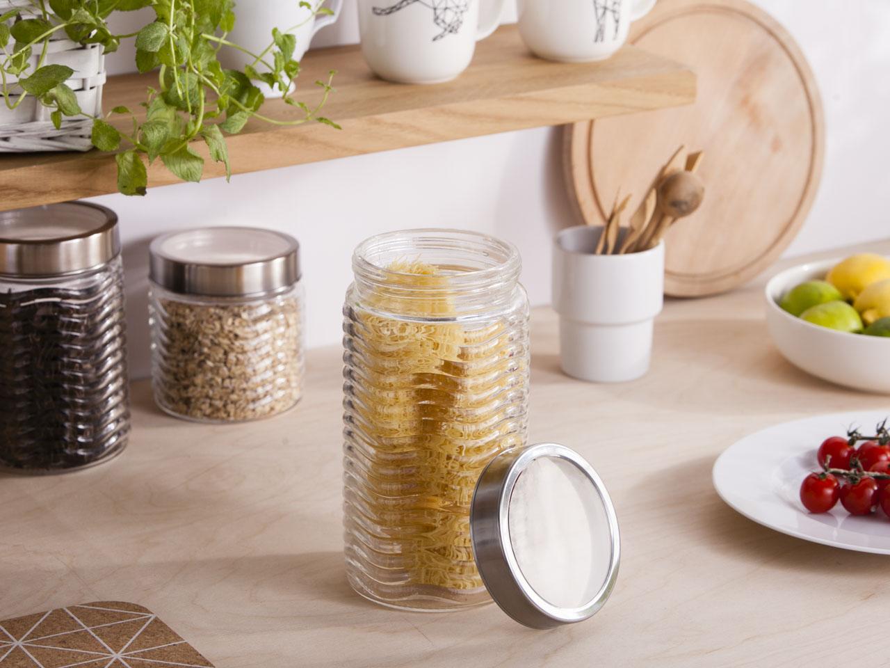 Słoik / pojemnik szklany fala do przechowywania żywności Altom Design 1750 ml