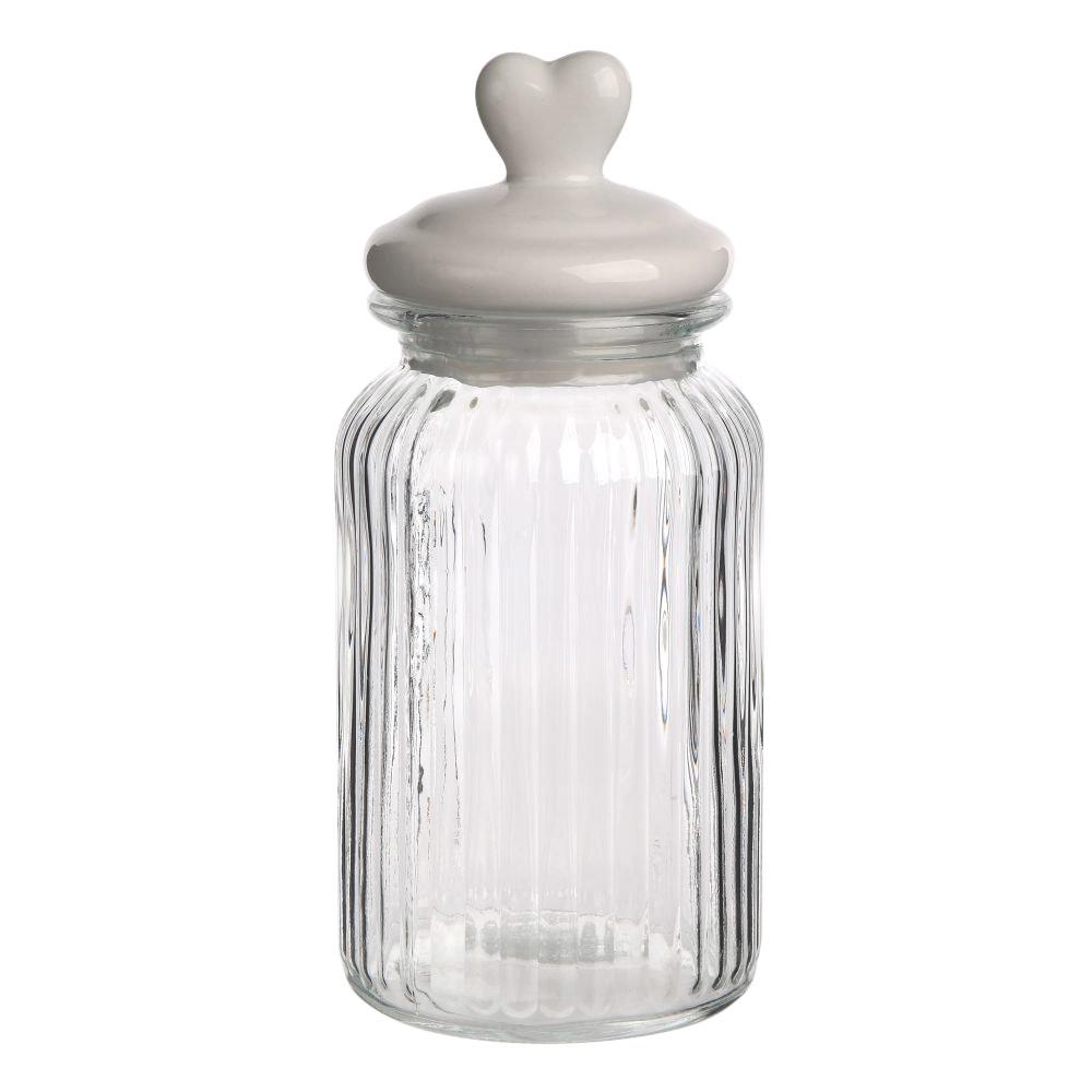 Słoik / Pojemnik szklany z ceramiczną pokrywką Altom Design Serce 26 cm