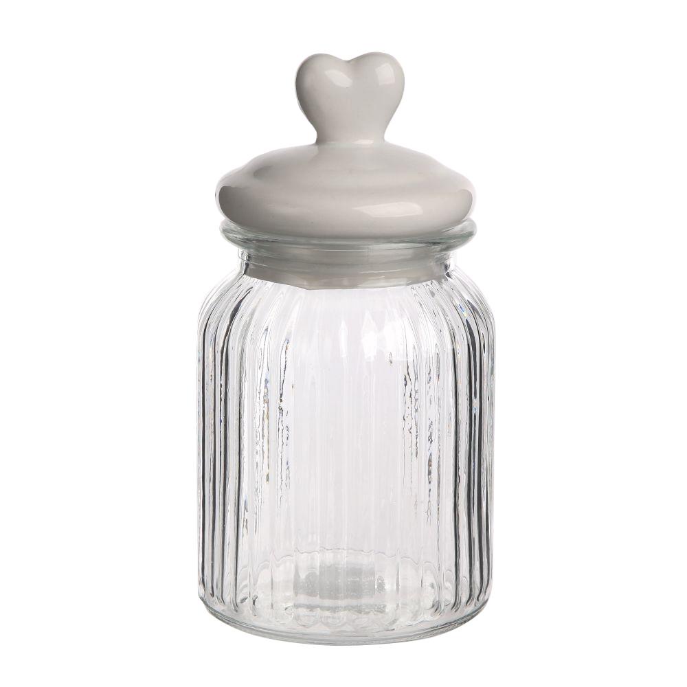 Słoik / Pojemnik szklany z ceramiczną pokrywką Altom Design Serce 22 cm