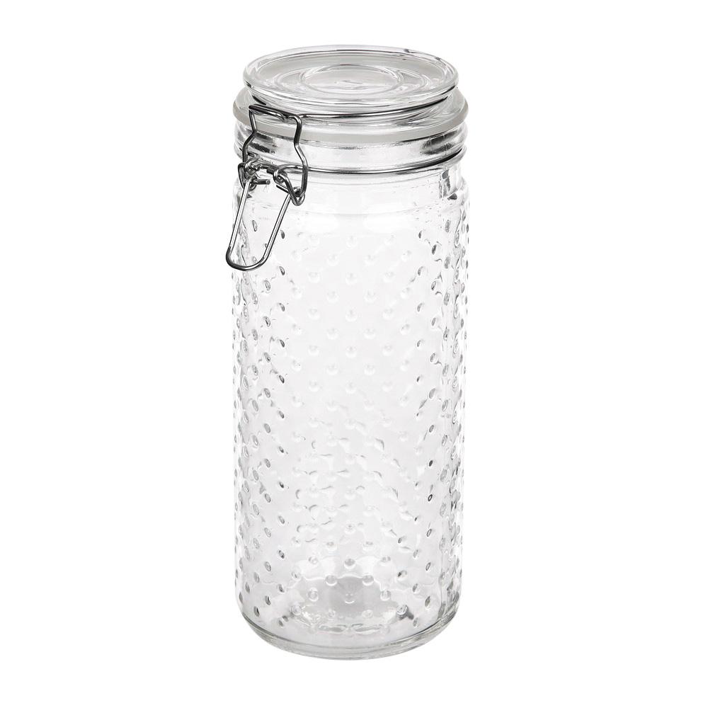 Słoik / pojemnik szklany w kropki do przechowywania żywności Altom Design 1350 ml