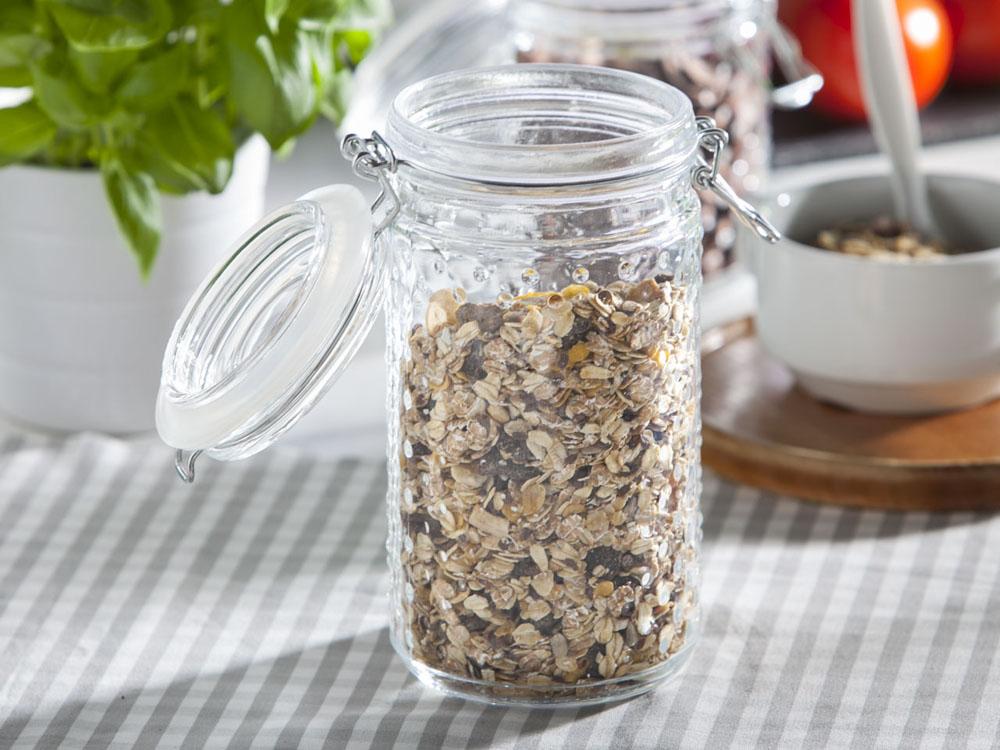 Słoik / pojemnik szklany w kropki do przechowywania żywności Altom Design 900 ml