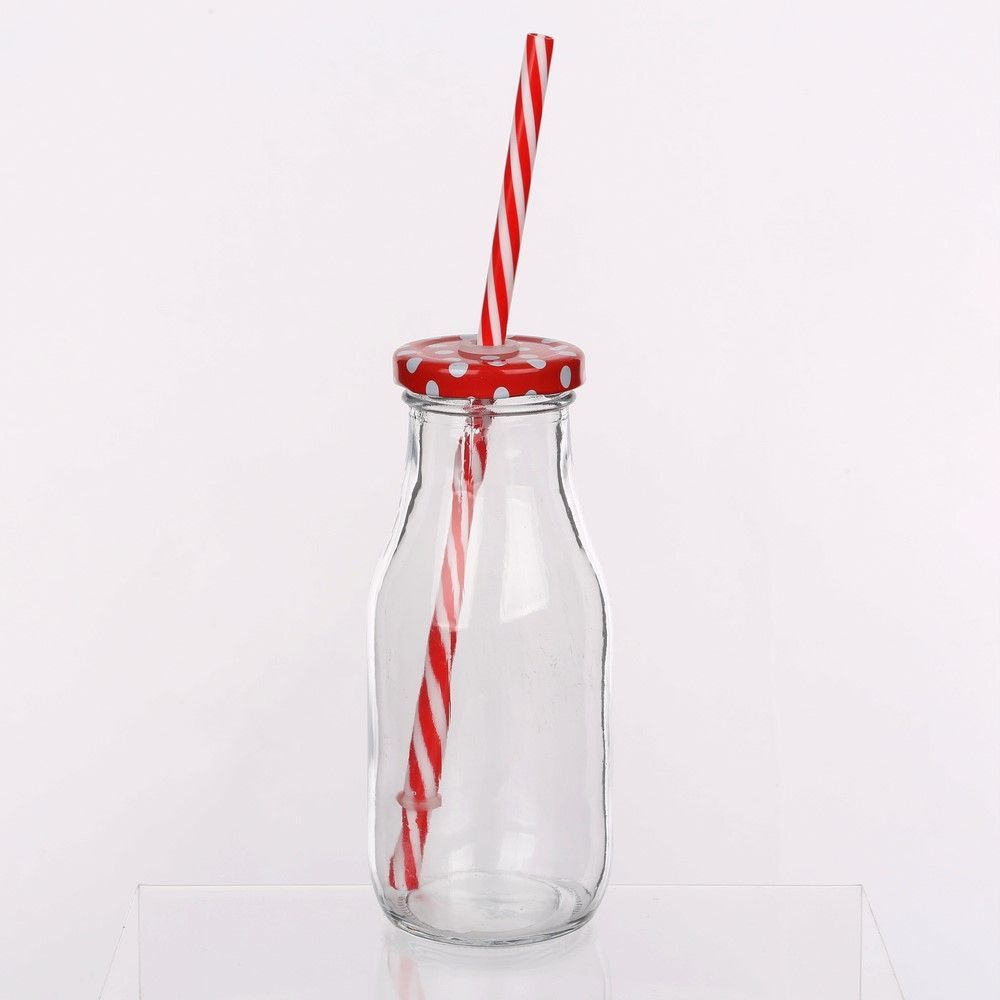 Bottle with lid and straw 320 ml