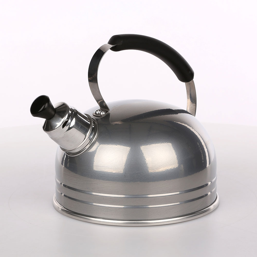 Kettle 1,25l solid handle transp. 090t silver