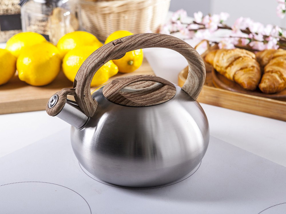 Stainless steel whistling kettle Natura Light 2,5l.