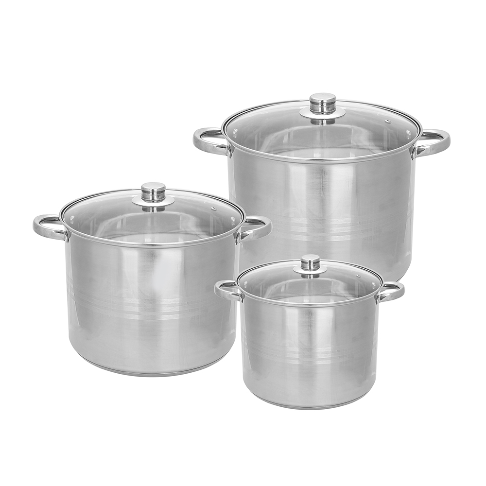 Victor set of 3 pots high 26cm+28cm+30cm