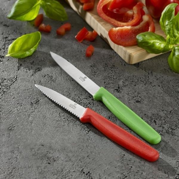 Nóż uniwersalny i ząbkowany Gerpol Neon 10 / 8 cm