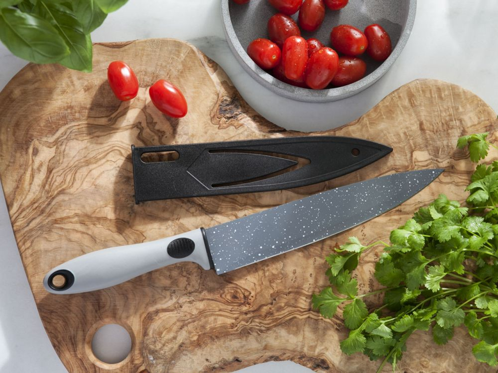 Nóż kuchenny z osłoną ostrza Altom Design Rock 20 cm
