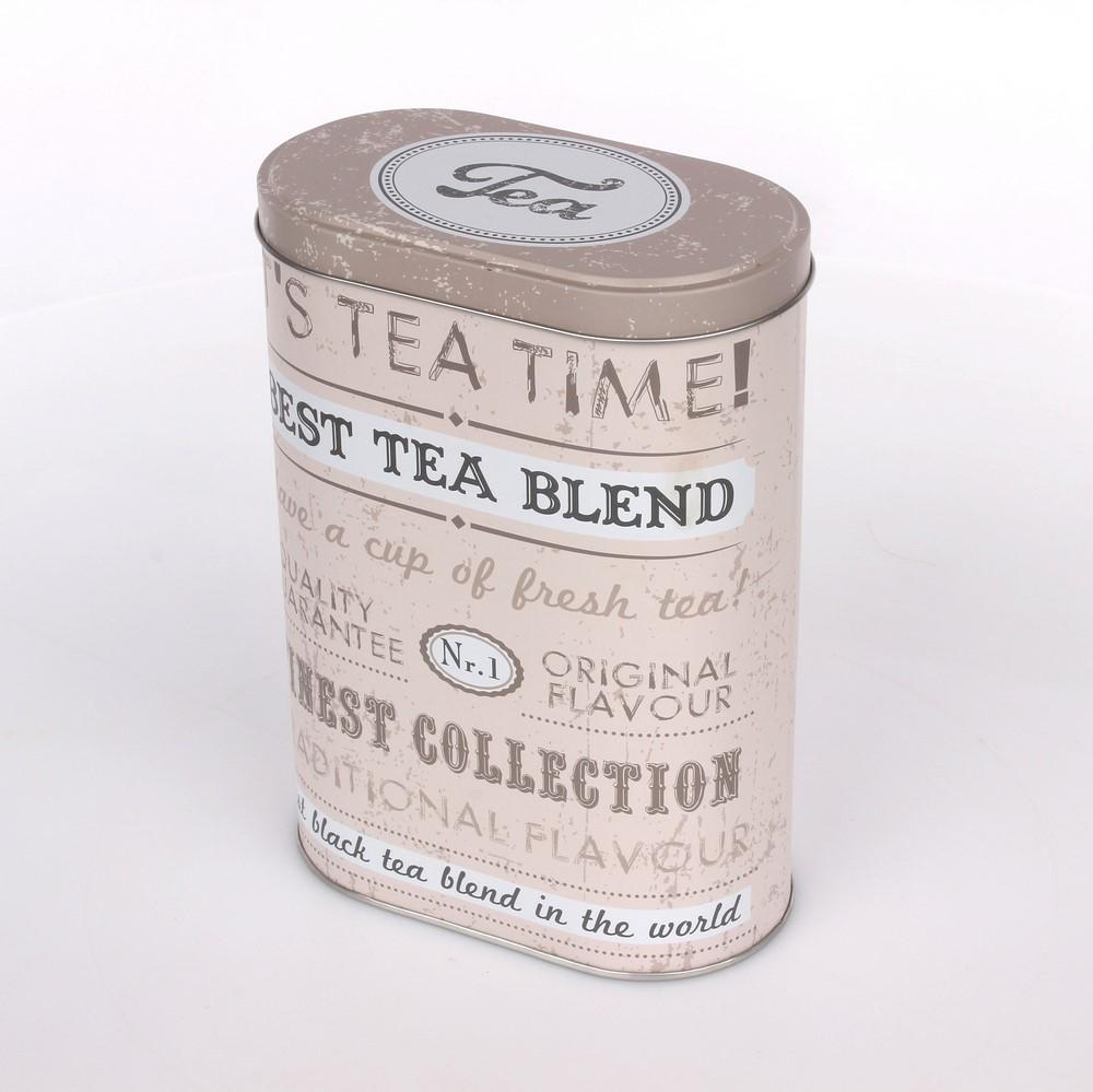 Puszka / pojemnik na herbatę Altom Design Beż owalny 19 cm