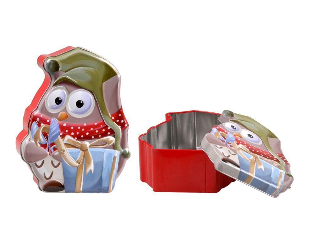 Puszka świąteczna na ciasteczka / słodycze Altom Design Sowa Christmas