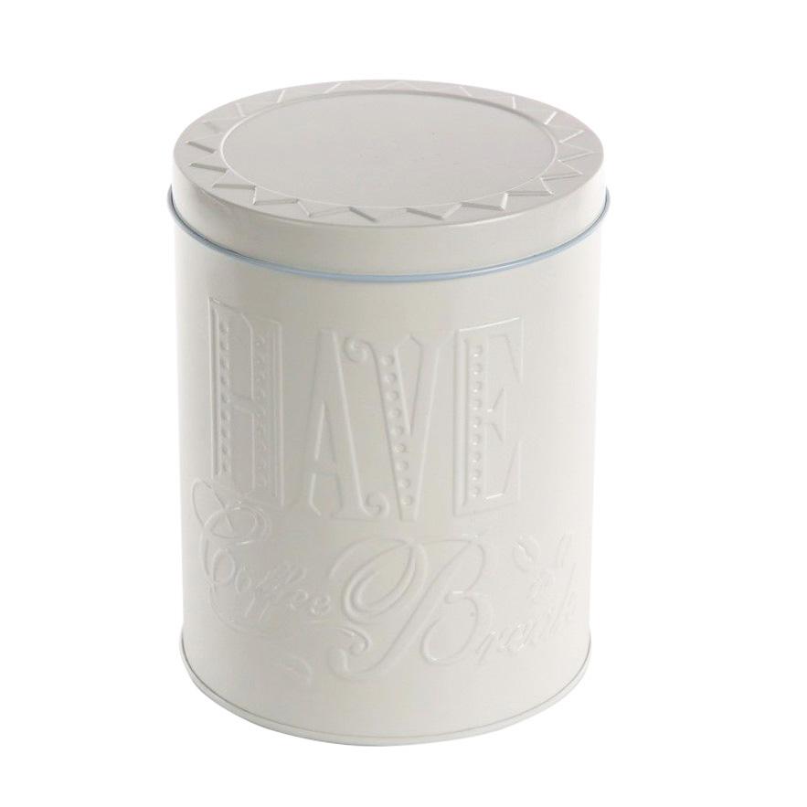 Puszka / pojemnik na kawę / herbatę Altom Design Relief beżowa okrągła