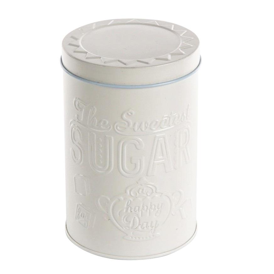 Puszka / pojemnik na cukier Altom Design Relief beżowa okrągła