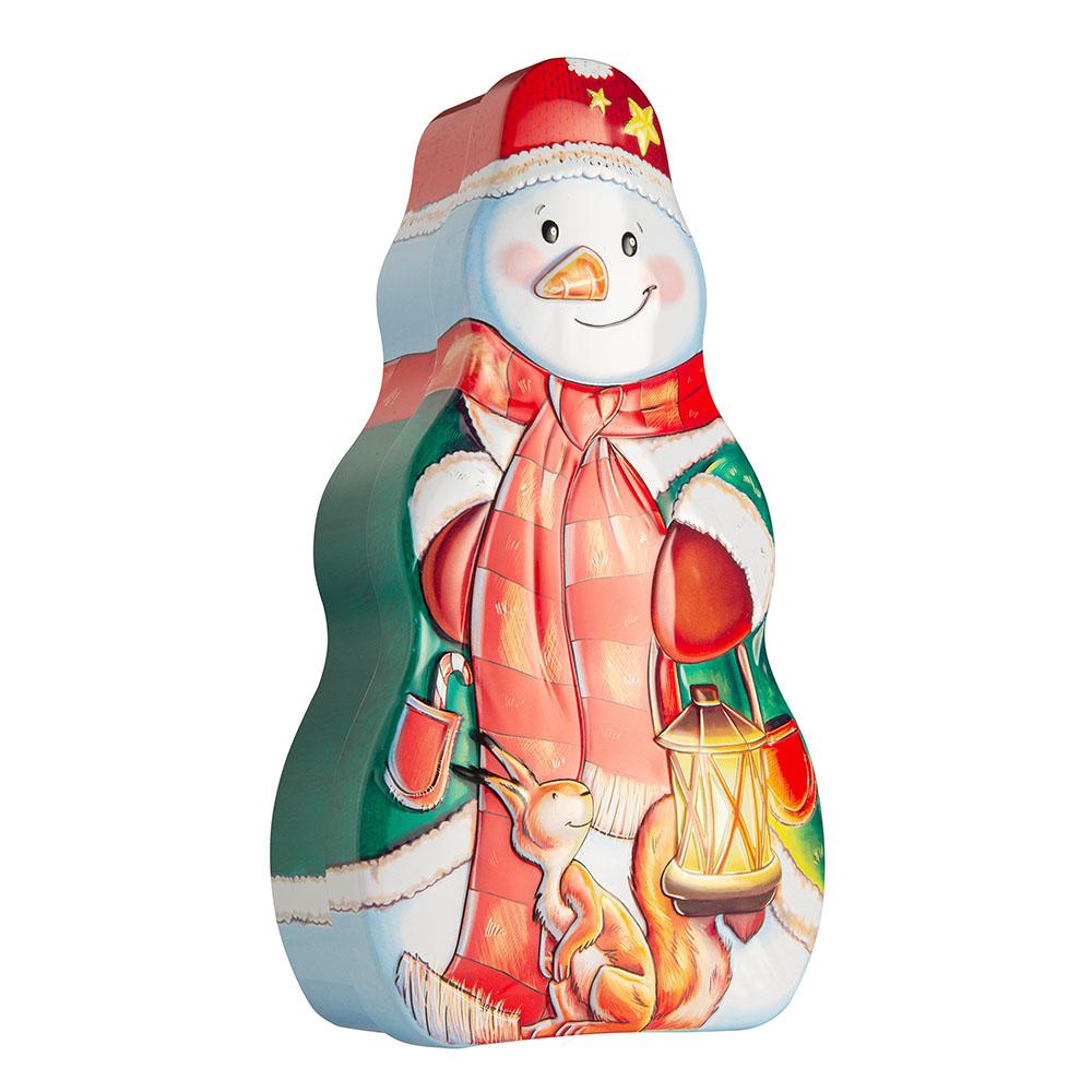 Snowman tin box 13x23x6 cm
