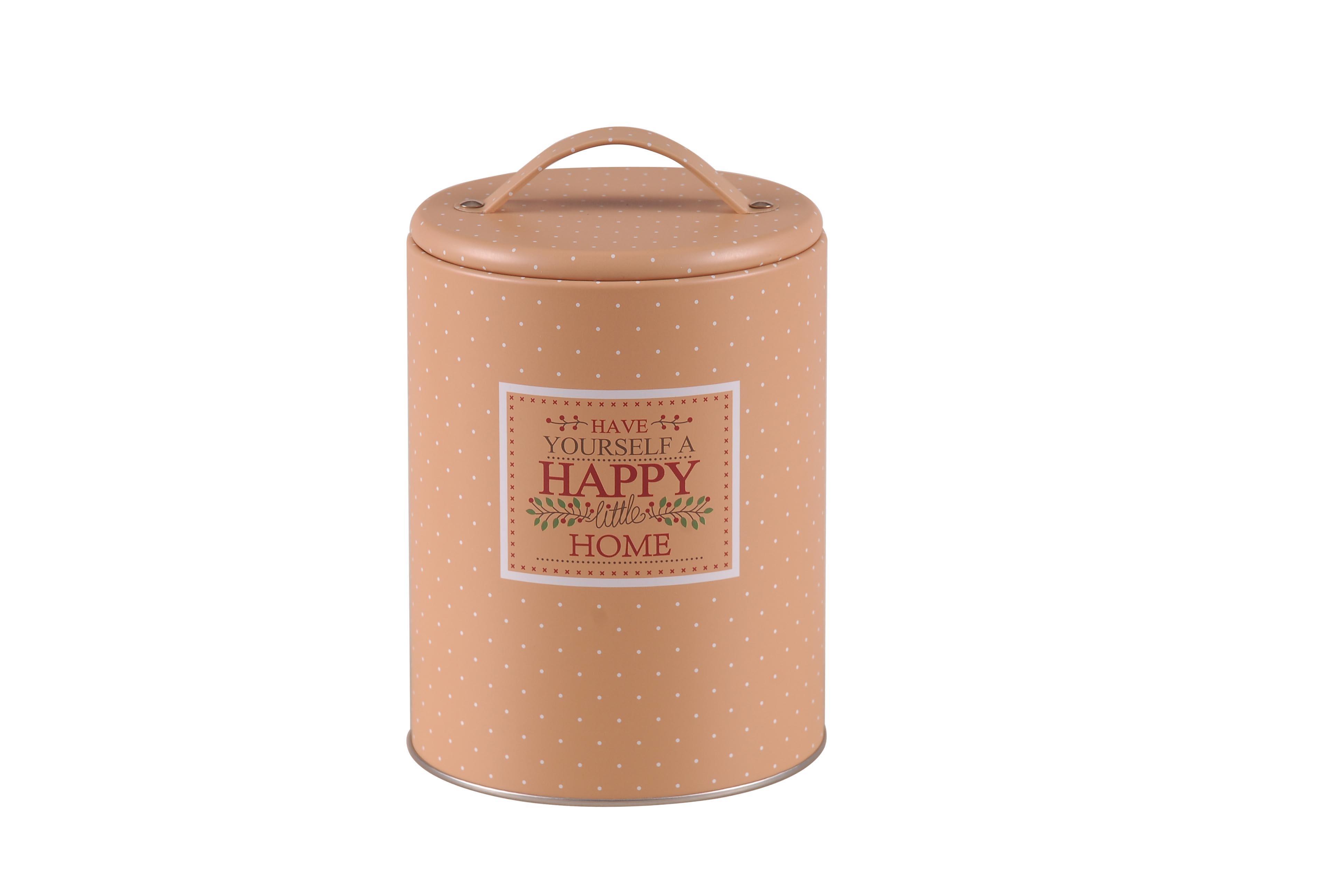 Puszka / pojemnik na produkty sypkie Altom Design Happy Home okrągła z uchwytem