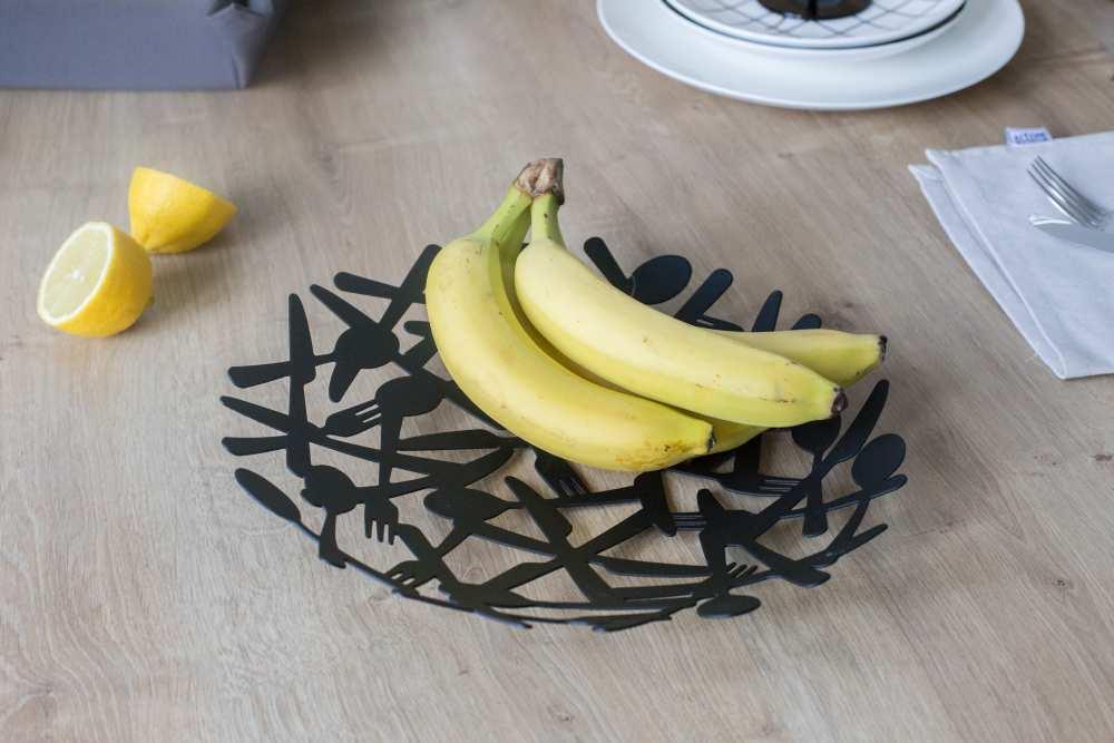Patera na owoce metalowa Altom Design Sztućce 29 cm