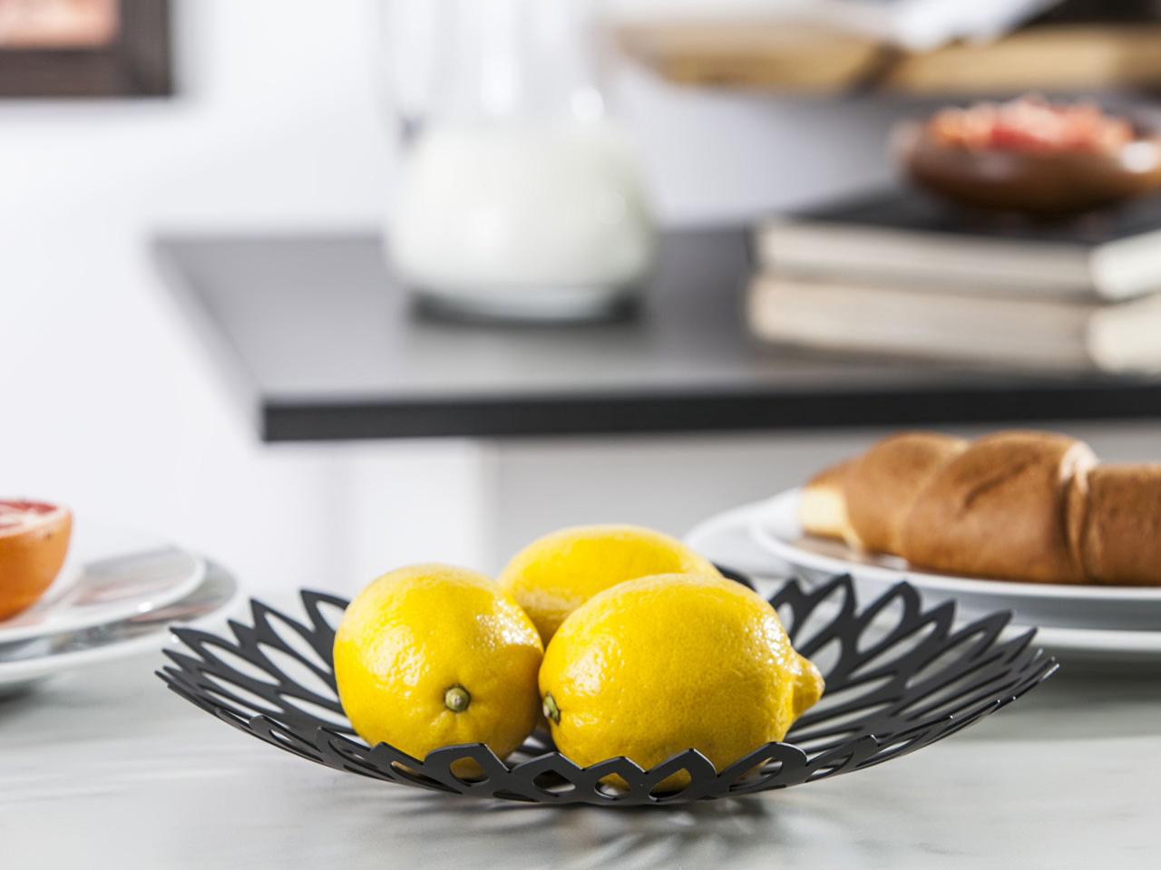 Patera na owoce metalowa Altom Design Liście 29 cm
