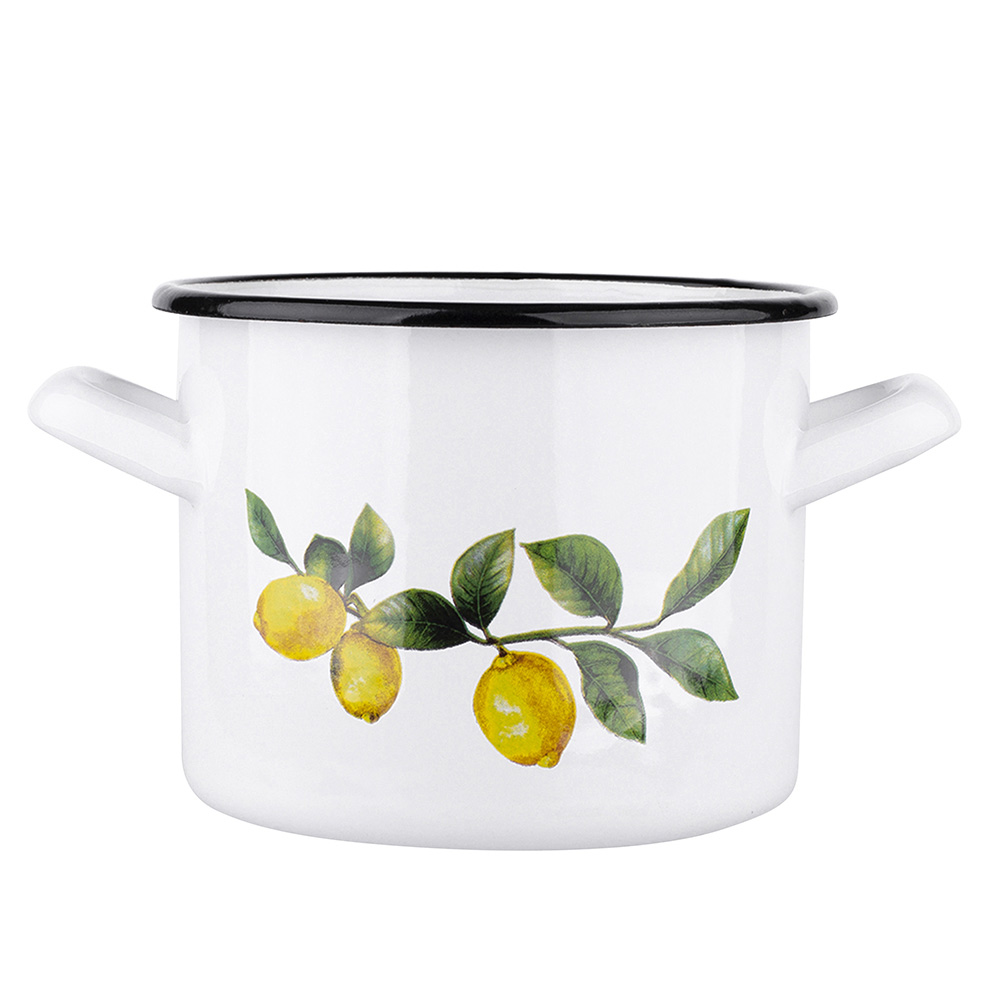 LEMON POT 22CM WHITE
