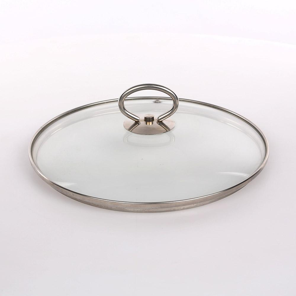 Pokrywka do garnka szklana z uchwytem nierdzewnym Silesia Rybnik 22 cm