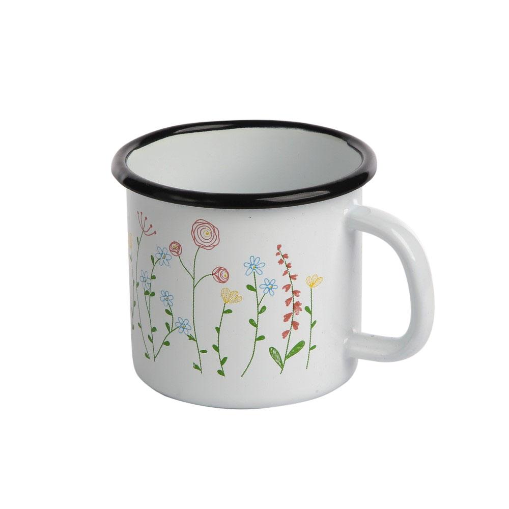 Kubek emaliowany Silesia Rybnik Kolekcja Polne Kwiaty 0,45 l