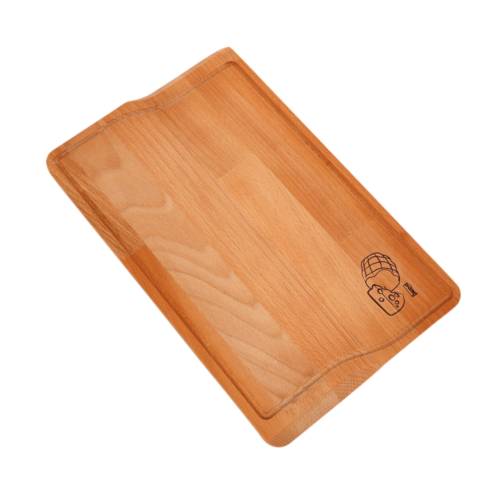 Deska do krojenia Tereska drewniana 32 cm z listkiem