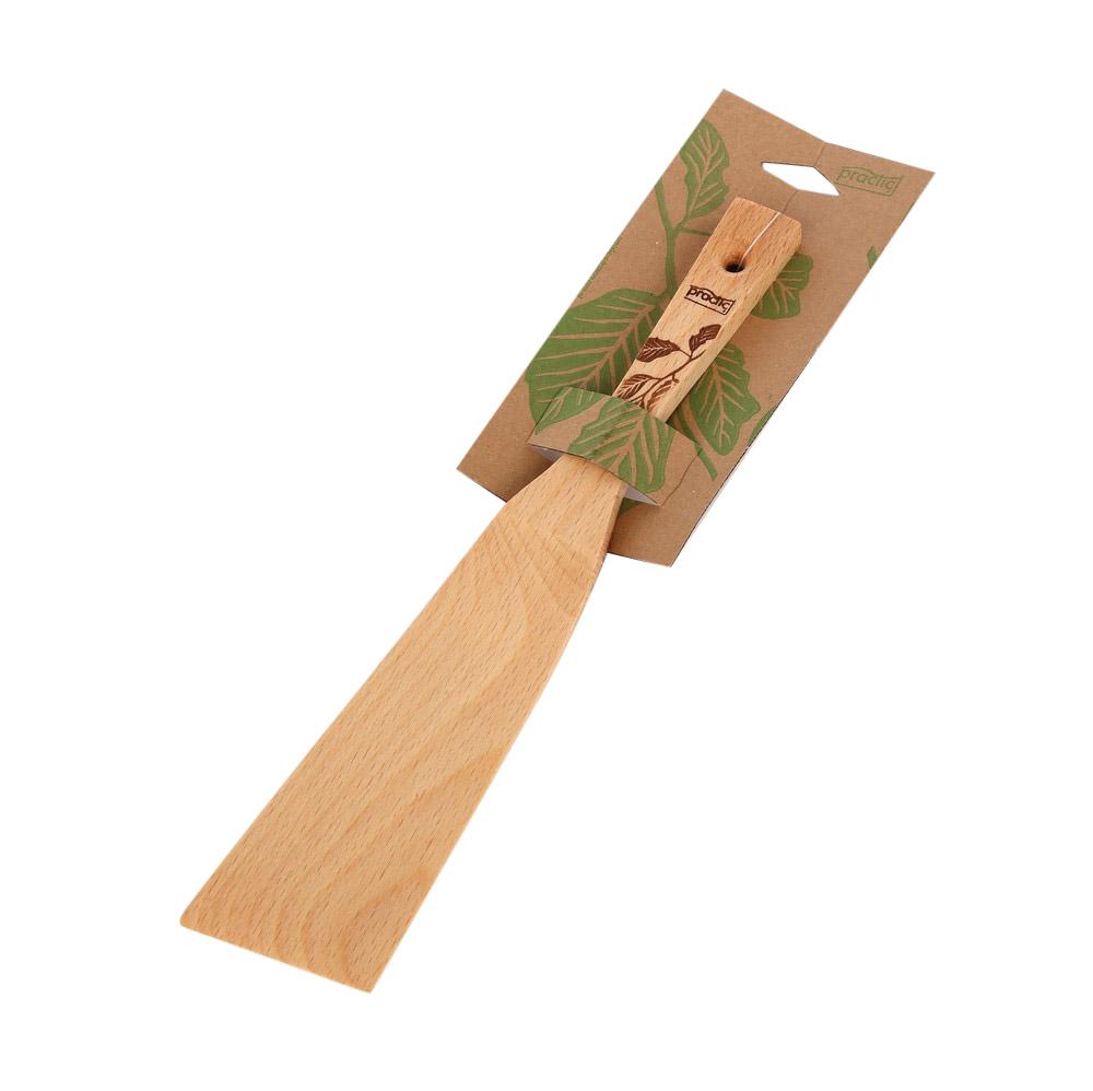 Łopatka drewniana do naleśników z listkiem