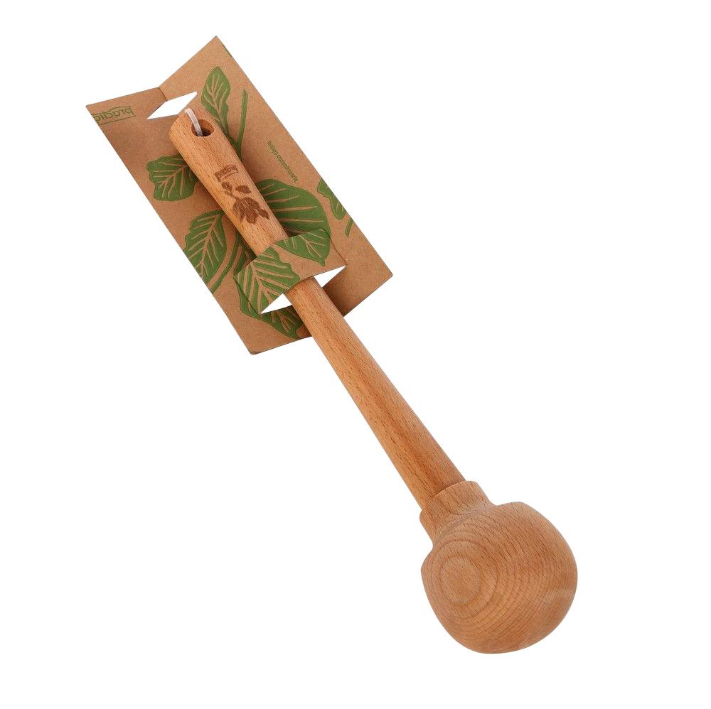 Kula do ucierania drewniana z listkiem