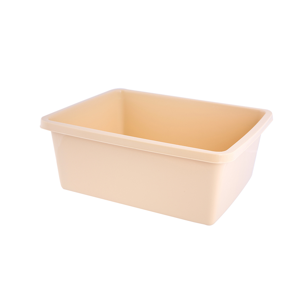 Miska plastikowa prostokątna Bentom 8 l beżowa