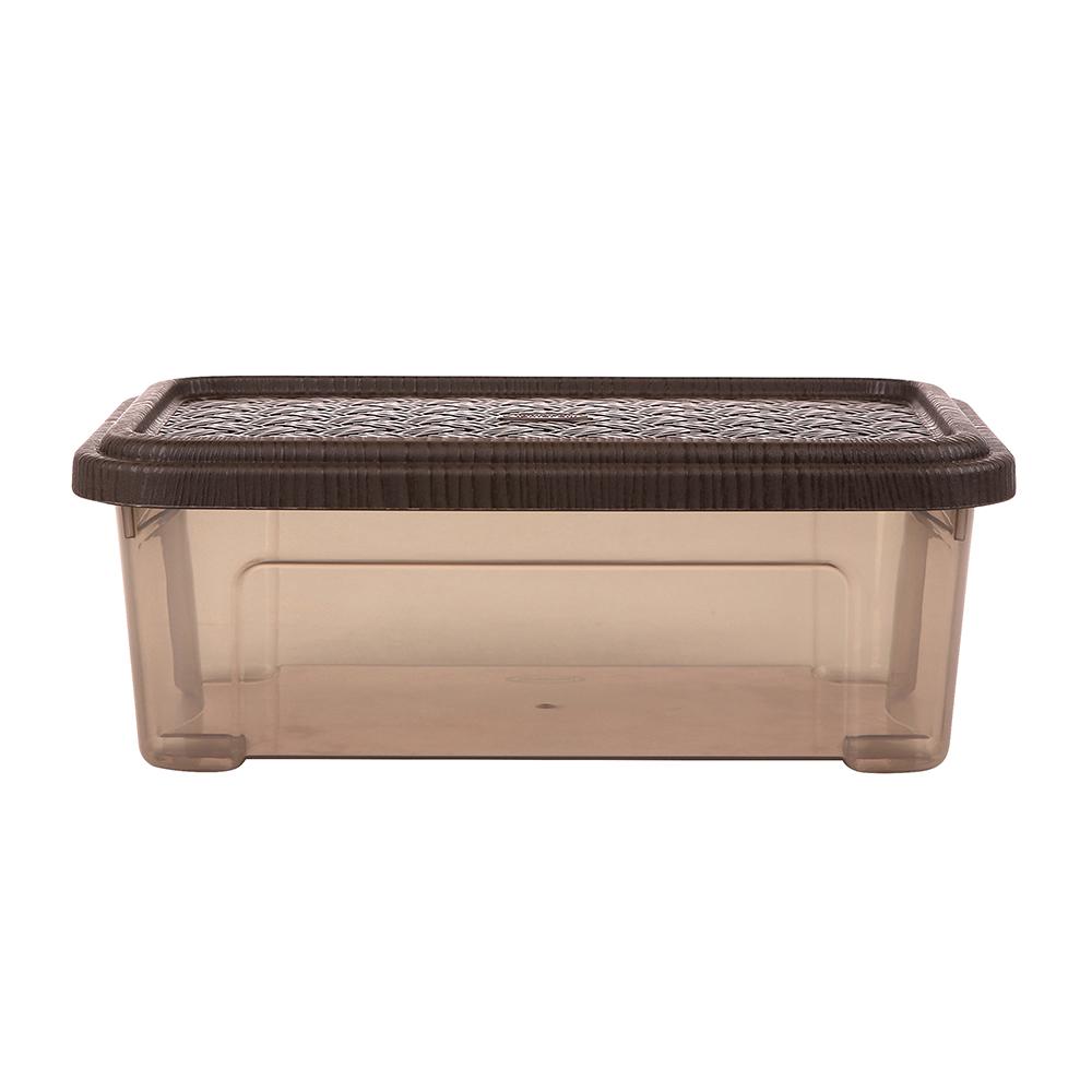 Pojemnik do przechowywania rzeczy Tontarelli Combi Box z pokrywką Arianna Brązowy 26,2x17x9,6 cm / 2,5 l