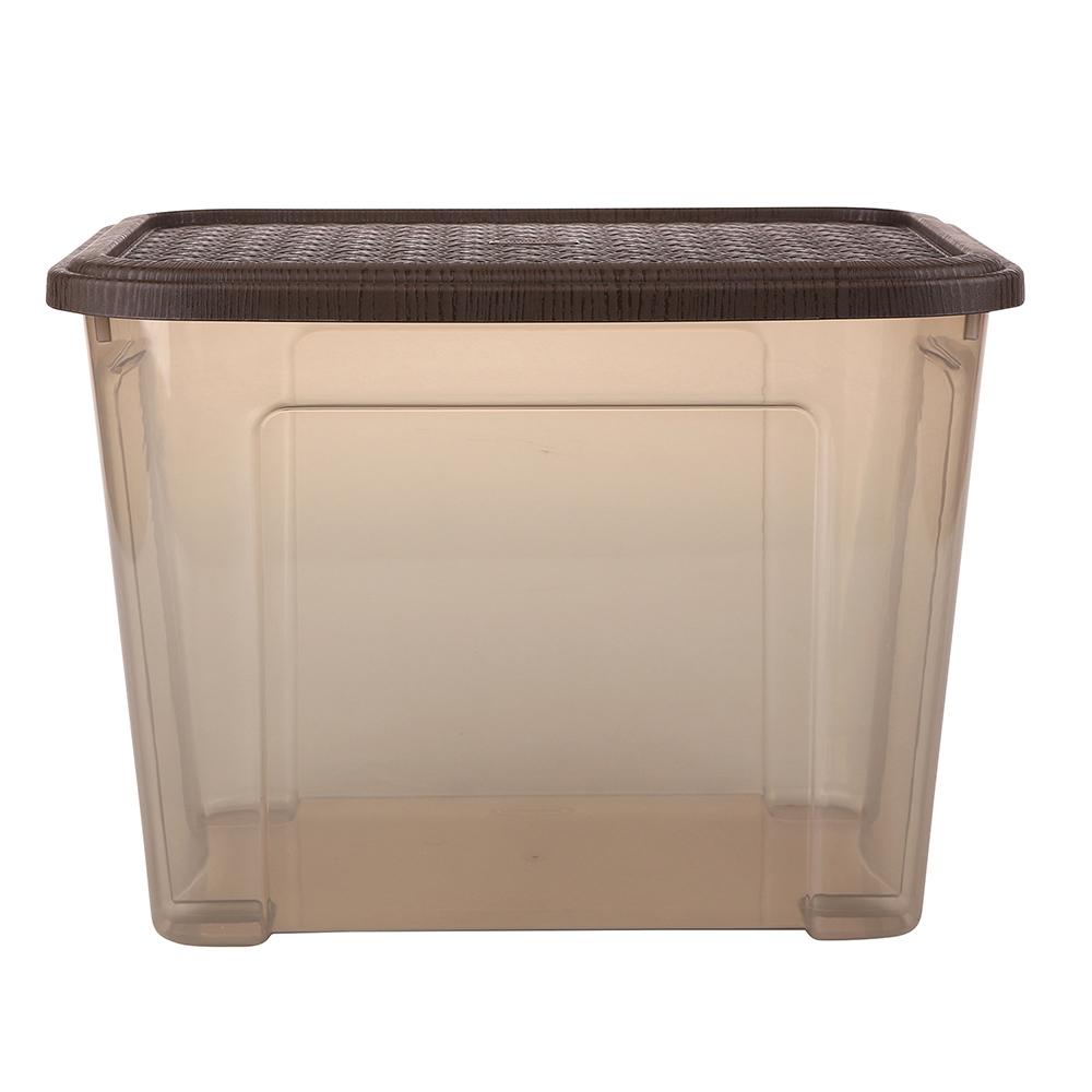 Pojemnik do przechowywania rzeczy Tontarelli Combi Box z pokrywką Arianna Brązowy 37,7x27,7x27,8 cm / 18 l