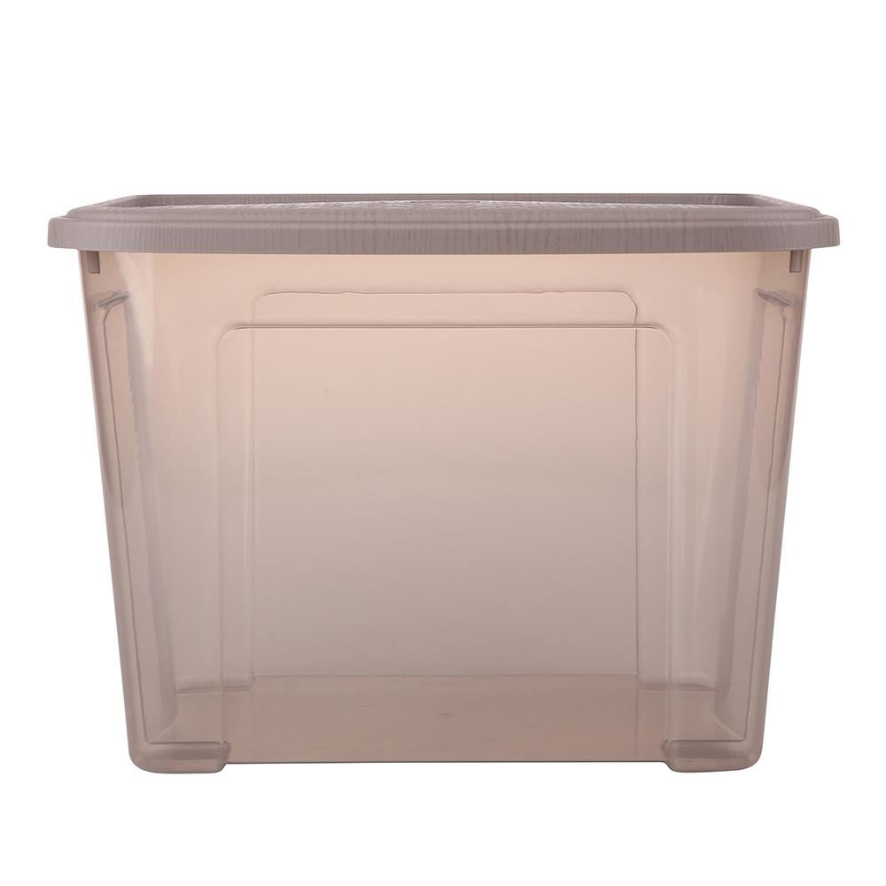 Pojemnik do przechowywania rzeczy Tontarelli Combi Box z pokrywką Arianna Taupe 37,7x27,7x27,8 cm / 18 l
